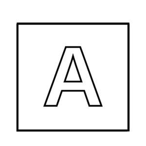 "alphabet ""A"""